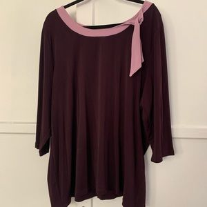 Purple/burgundy blouse 22/24